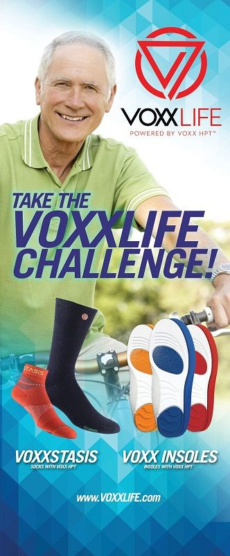 balance, stability, health, strength, aches and pain, socks, insoles, swelling, HTP, Stasis, VOXXLIFE, mobility, relief