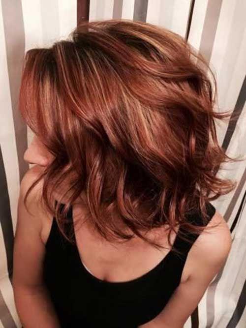Brunette Red Lob Hair-1