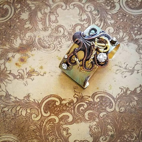 Check out this item in my Etsy shop https://www.etsy.com/listing/558980838/steampunk-assemblage-cuff-bracelet