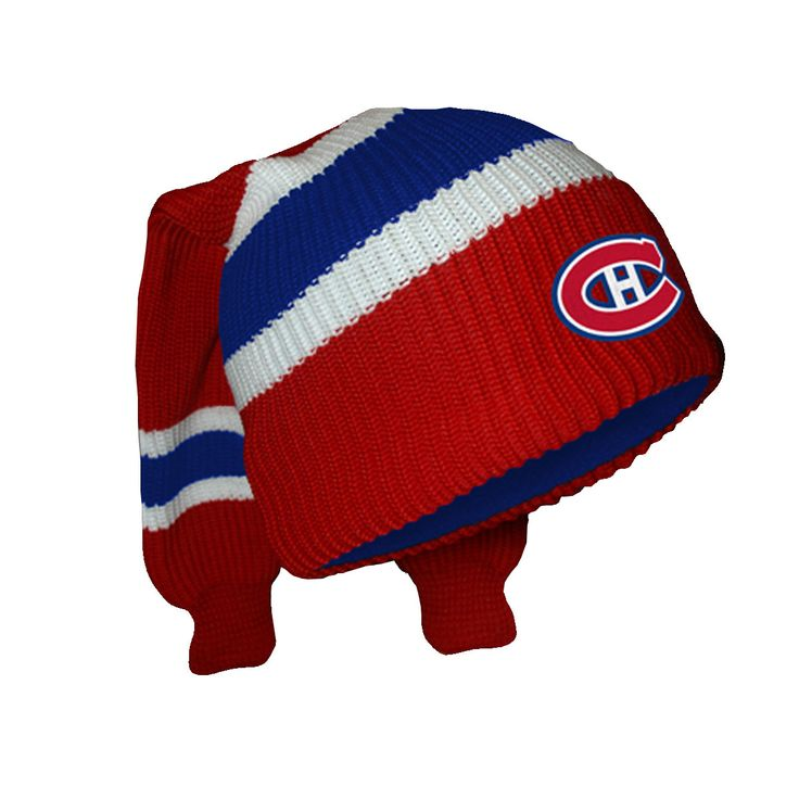 Montreal Canadiens Hockey Sockey Reversible Knit Hat