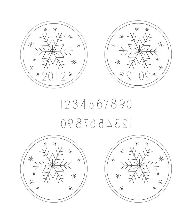 Snowflake Ornament Free Hand Embroidery Pattern