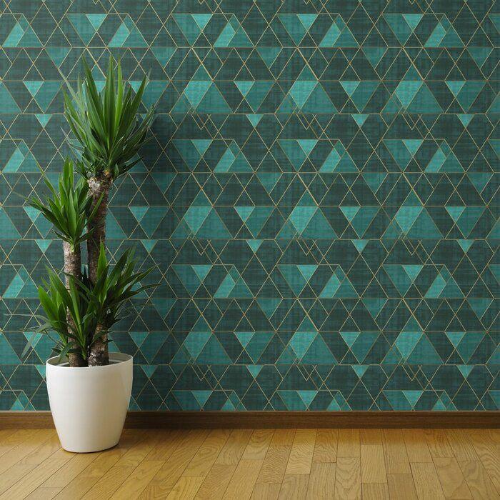 Ivy Bronx Clarkson Geometric Removable Peel And Stick Wallpaper Panel Reviews Wayfai Geometric Removable Wallpaper Peel And Stick Wallpaper Brick Wallpaper