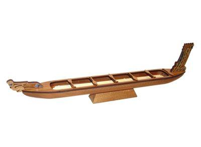 Maori War Canoe Wooden Model - Medium - Aeon Giftware | Shop New Zealand NZ$119.90