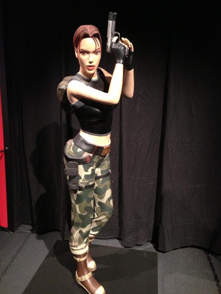 Life-size Lara Croft statue