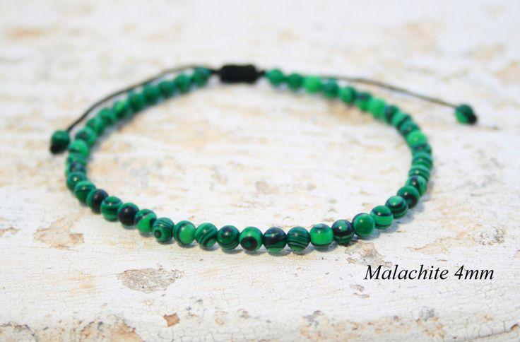 Men Beaded Bracelet, Malachite Bracelet, Healing Bracelet, Bohemian Bracelet…