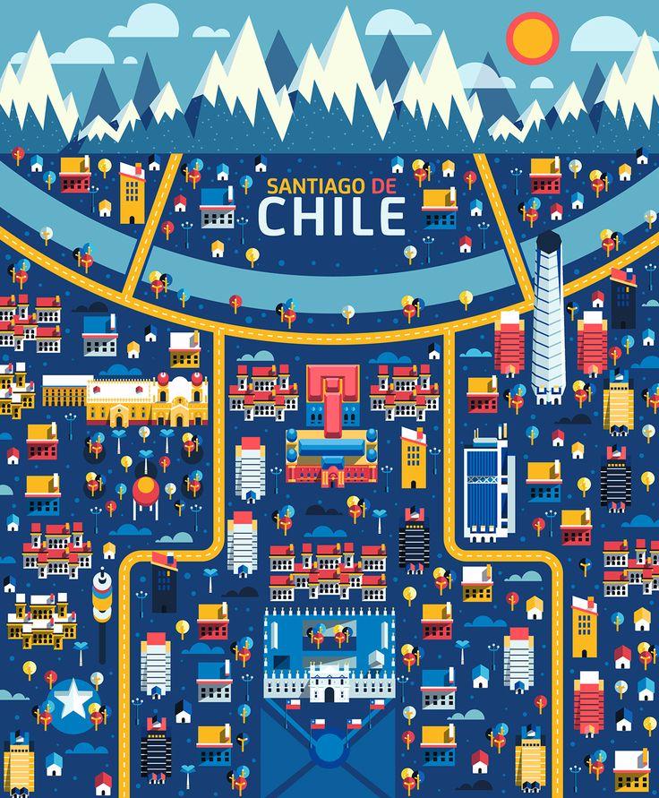 Santiago de #Chile #viajes