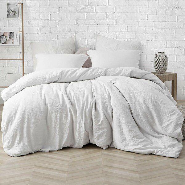 Wendling 3 Piece Duvet Cover Set White Comforter White Bedding White Duvet