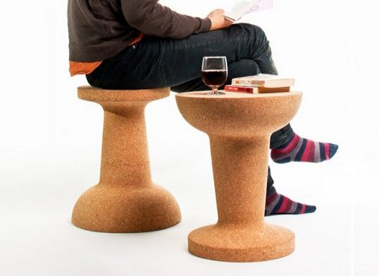 Cooima Cork Pushpin Stool by Kenyon Yeh