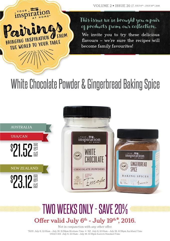 YIAH Weekly Pairings - White Chocolate Powder & Gingerbread Baking Spice for $21.52 until July 19th 11:59pm