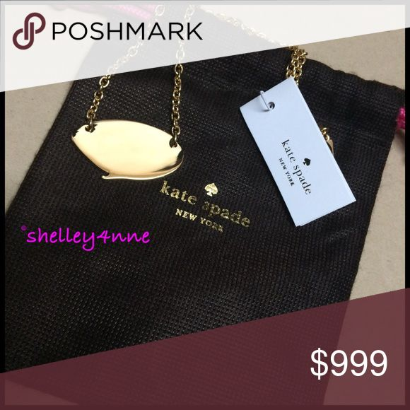 NEW kate spade speech bubble necklace A silent statement-maker, this fun + flirty pendant says it all so you don't have to! Includes dust bag as seen in photos | never worn, perfect condition, just slowly scaling down my ridiculous jewelry collection! Kate Spade Jewelry Necklaces