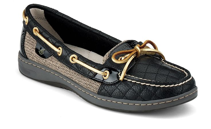 Sperry Top-sider: Sperry Women Angelfish, Boats Shoes, Sperry Tops Sid, Slip On Boats, Sperry Topsid, Quilts Sperry, Angelfish Slipon, Black Quilts, Angelfish Slip On