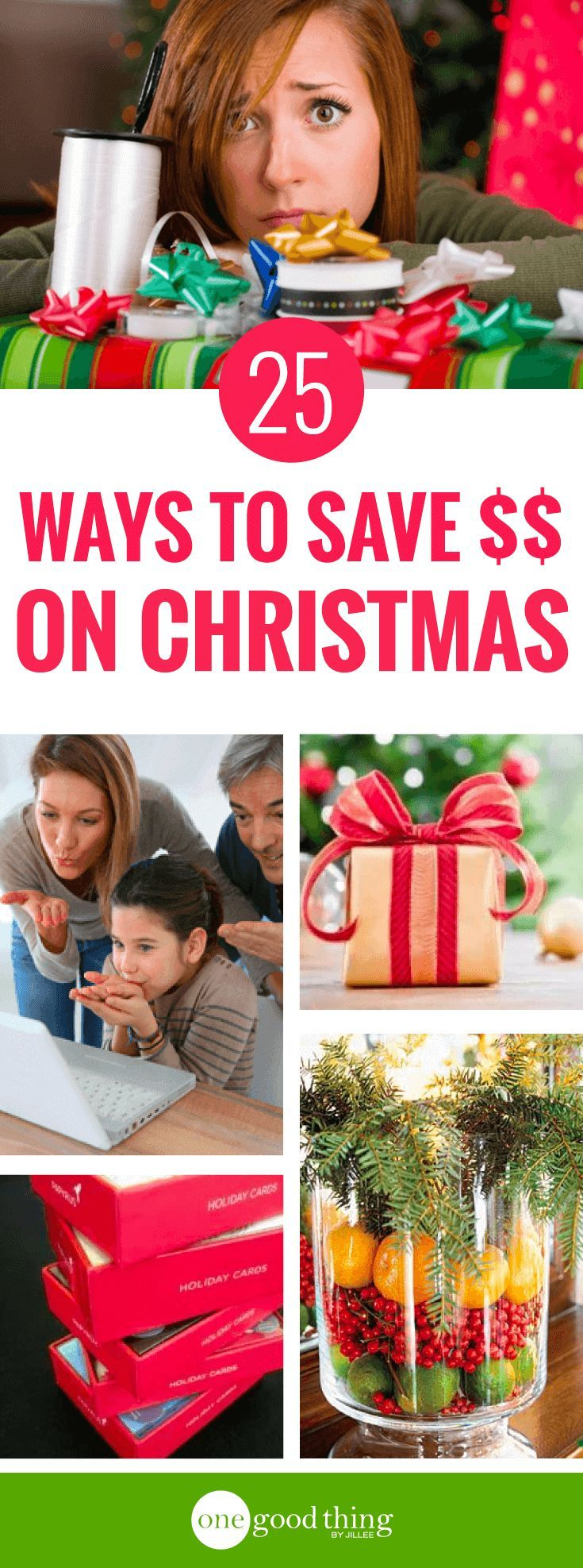 Don�t stress out! Here are 25 practical tips for saving money and staying sane while navigating all the holiday spending madness! #christmasspending #holidayspending #moneysavingtips