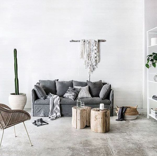 Whitewash - Laine Toia Bespoke Weaving. Styling/Photography: Indie Home Collective