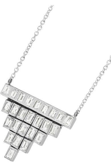 Ileana Makri - Pyramid 18-karat White Gold Diamond Necklace - one size