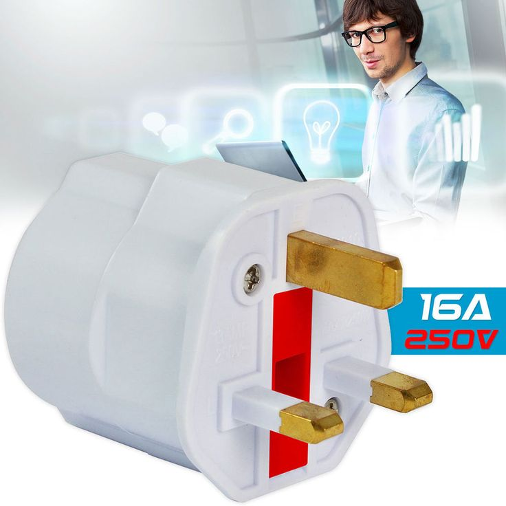European Euro EU Schuko 2 Pin to UK 3 Pin Plug Adaptor Travel Mains Adapter Plug http://ebay.eu/2hll6Yq
