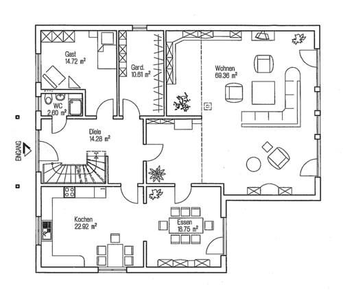 Einfamilienhaus neubau modern grundriss  66 besten grundriss für 6 zimmer Bilder auf Pinterest | Haus ...
