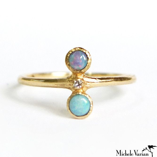Double Opal Ring