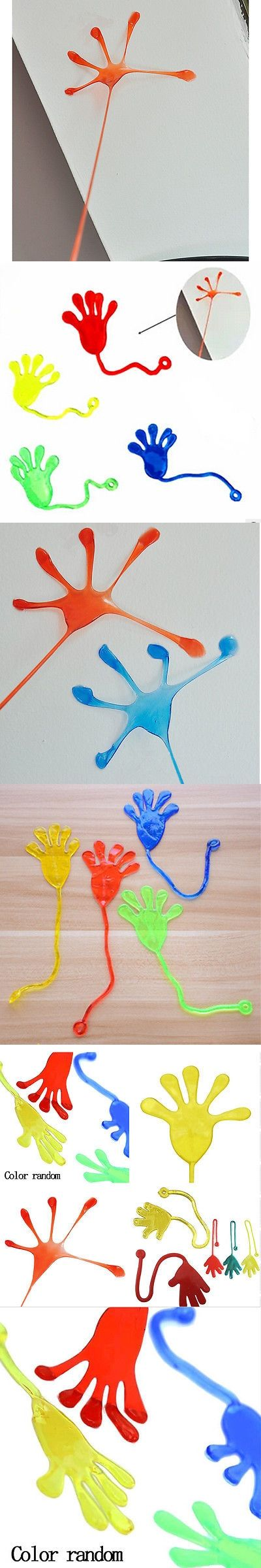 Cool Elastic Sticky Squishy Slap Hands Palm Toy Children Kid Party Favors Gift