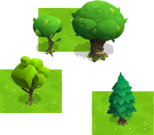 unusual vector trees 2 by Pavel Pro, via Behance