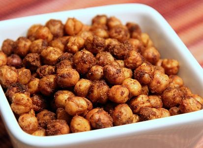 Spicy Chickpeas - a great snack to nibble on or to serve with drinks!