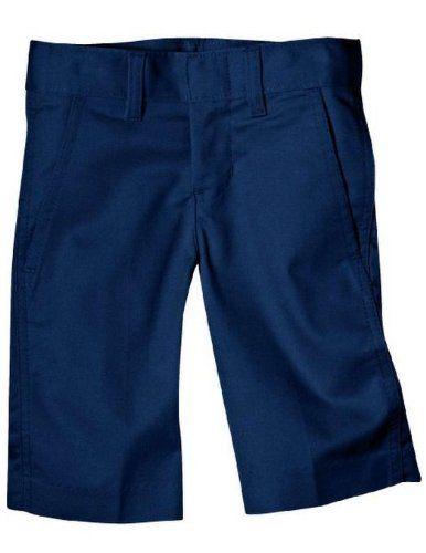 Dickies Big Boys' Flex Waist Flat Front School Uniform Short Dark Navy 12 Regular