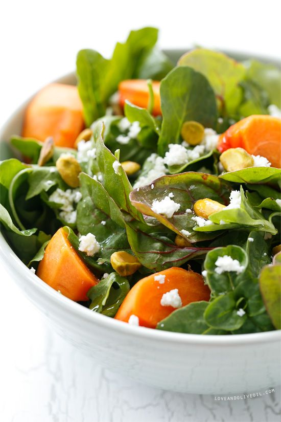 Persimmon Salad with Blood Orange Vinaigrette | Recipe | A ...