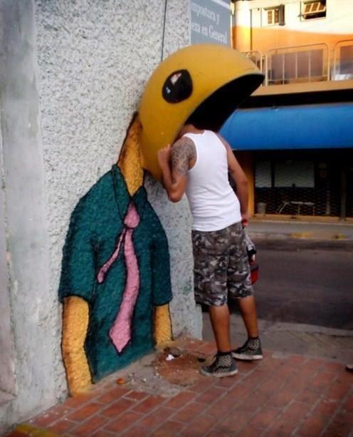 Phone Box Street Art. Unknown Artist