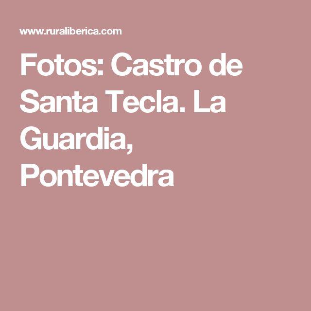 Fotos: Castro de Santa Tecla. La Guardia, Pontevedra