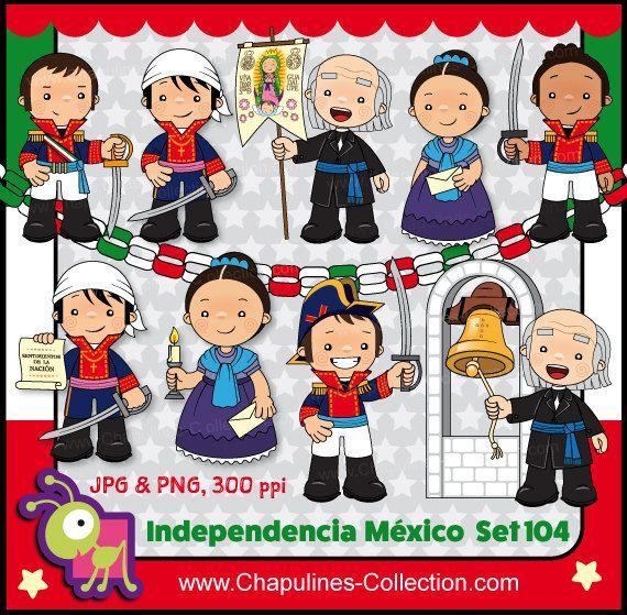 60% desc. Clipart Independencia de México por ChapulinesCollection