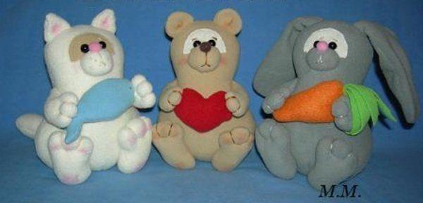 Мягкие игрушки своими руками: выкройки из ткани тильда для начинающих
