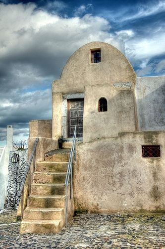 Dwelling in Pyrgos, Santorini island