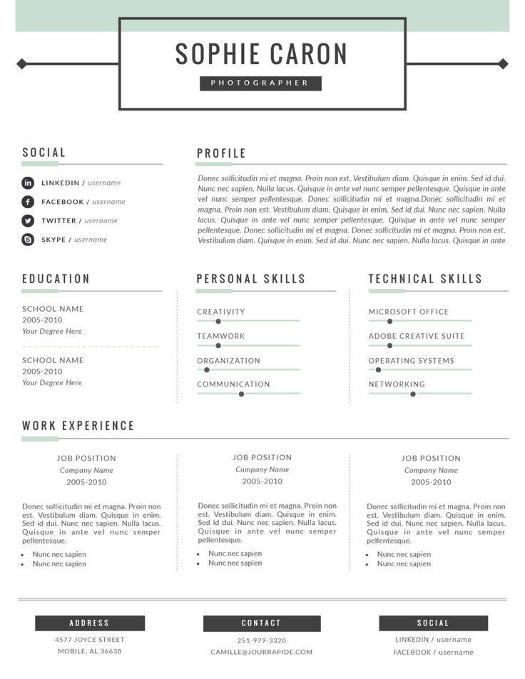 education resume format word
