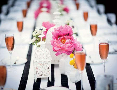 A Whimsical Modern Wedding At The Parker Palm Springs Resort Pink Flower Centerpieces