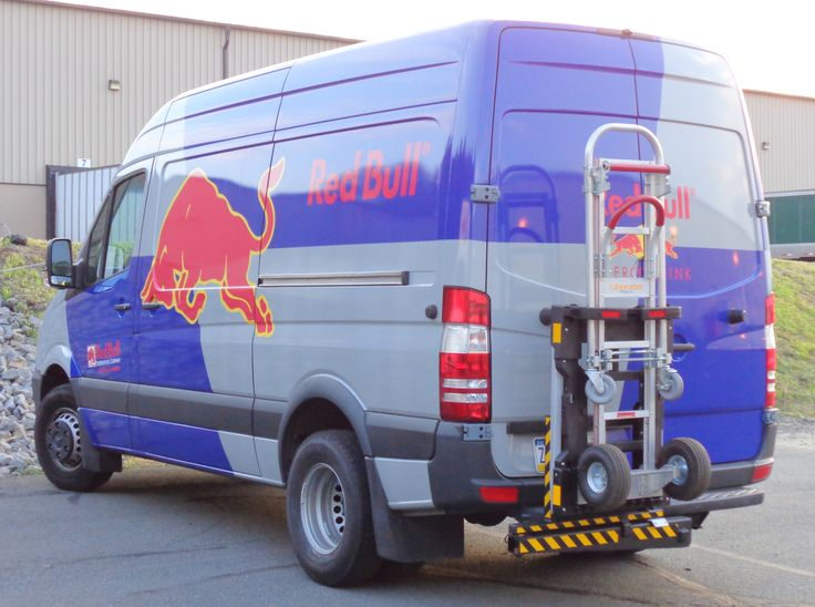 """3500 Sprinter cargo delivery van with HTS Systems' HTS-20SHM-2 Ultra-Rack unit. The HTS-20SHM-2 uses a class three 2"""" inch ID trailer hitch receiver."""