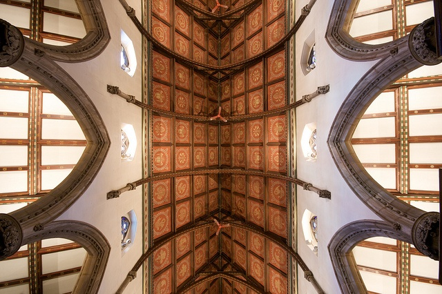 Nave Ceiling Detail, Anglican Church in Montreal, Canada