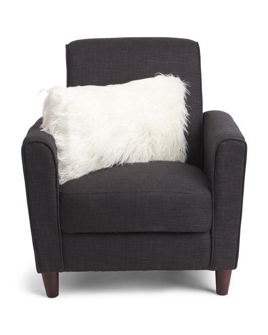 $20-- 14x24 Faux Mongolian Fur Pillow