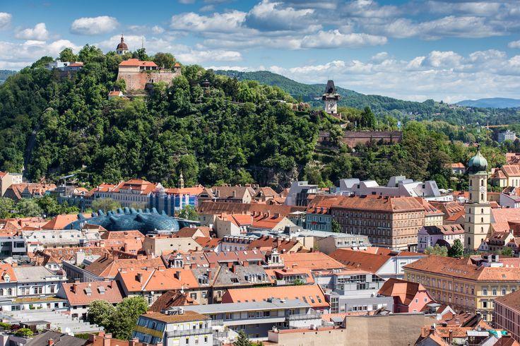 Blick auf den Schlossberg   © Graz Tourismus   Harry Schiffer