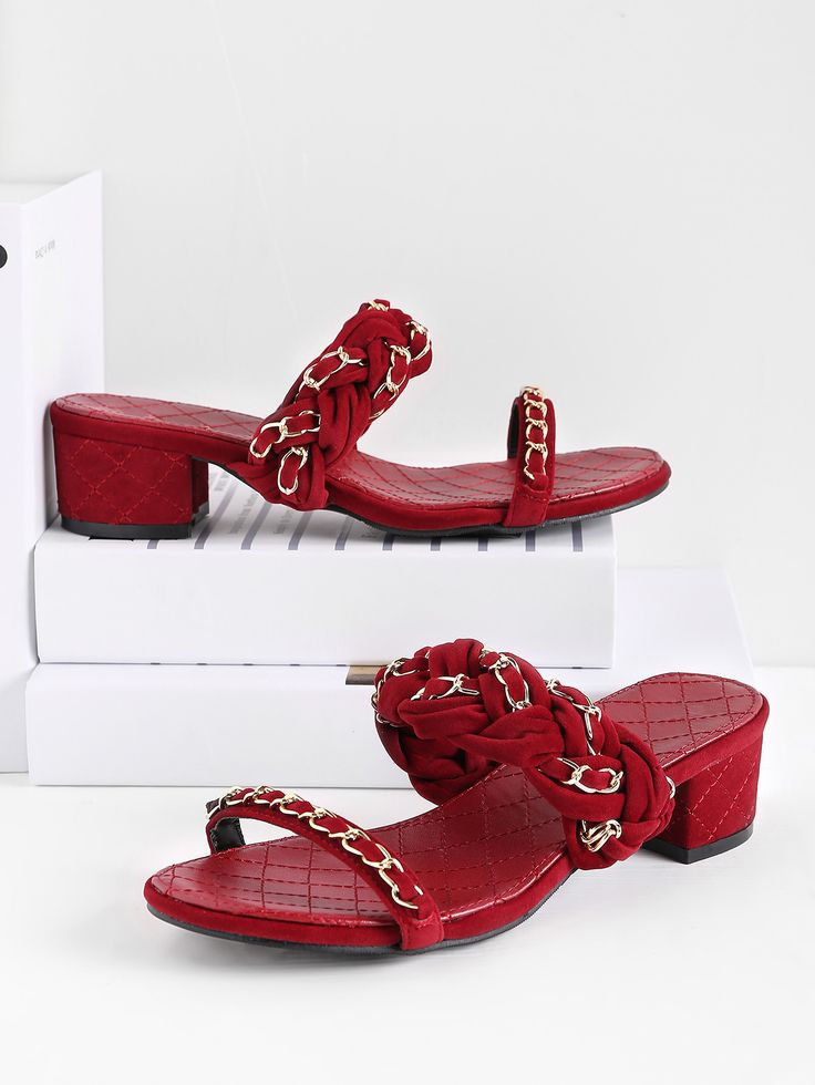 Shop Braided Strap Block Heeled Slide Sandals online. SheIn offers Braided Strap Block Heeled Slide Sandals & more to fit your fashionable needs.