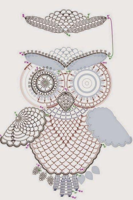 Mejores 11 imágenes de buho en Pinterest | Patrones de ganchillo ...