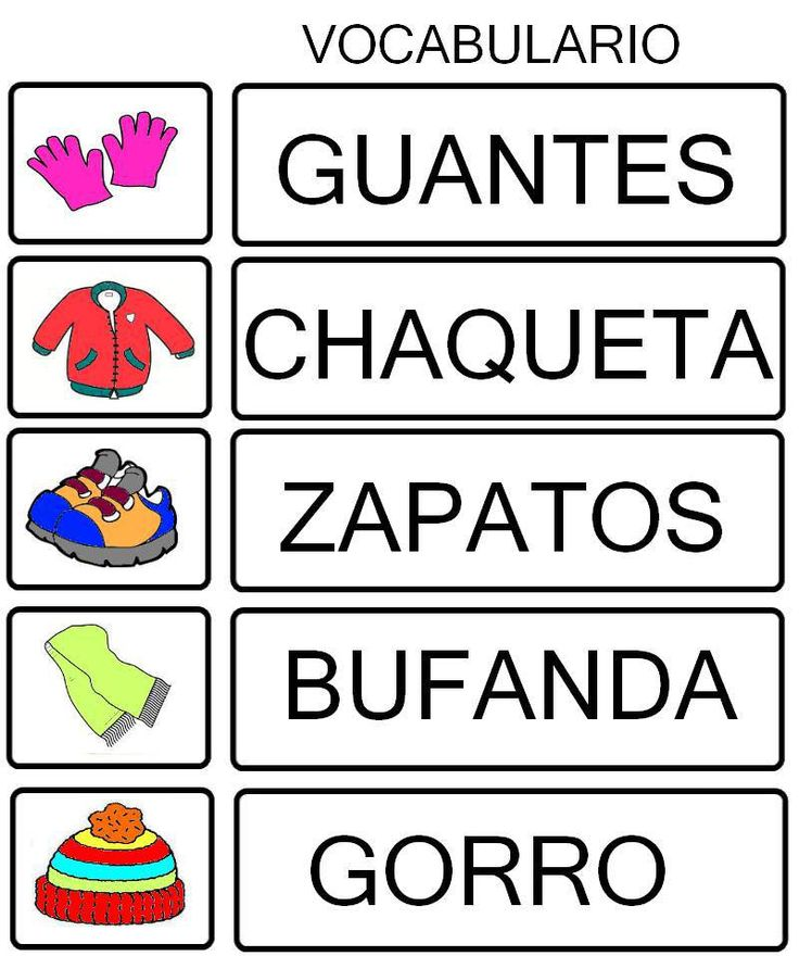 vocabulario invierno
