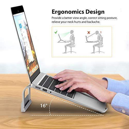 Amazon com: Laptop Computer Stand, Elekin Aluminum Cooling