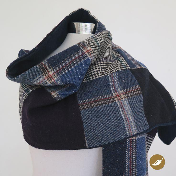 Bufanda diseñada y confeccionada por Andeanhands para Tienda Ají. Realizada en retazos de lanilla. Pieza única.