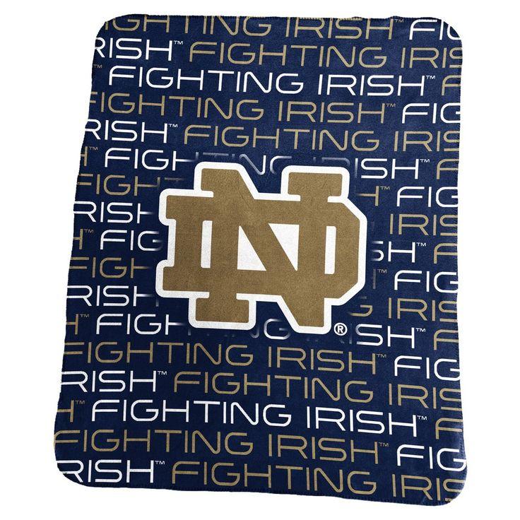 NCAA Notre Dame Fighting Irish Logo Brands Classic Fleece Throw Blanket