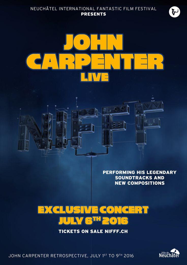 John Carpenter en concert unique lors du Festival International du Film Fantastique de Neuchatel (CH) le 06 Juillet 2016
