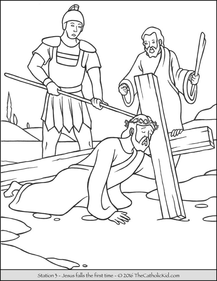 14 Best Images About Stations Of The Cross Coloring Pages