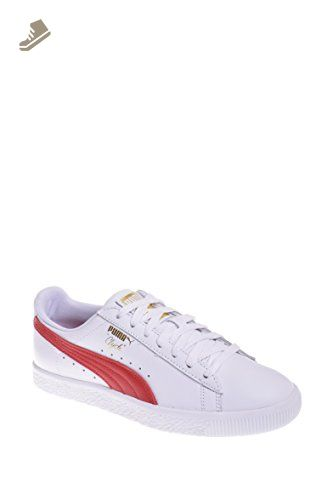 Puma Clyde Core Low Top Sneaker - White / Cherry - Puma sneakers for women (*Amazon Partner-Link)