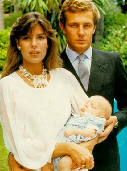 Princess Caroline of Monaco and Stefano Casiraghi. Love this picture for Princess Caroline.