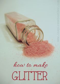 How to make glitter - Inspire Me Heather