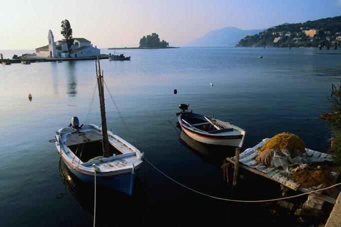 corfu boats corfu greece