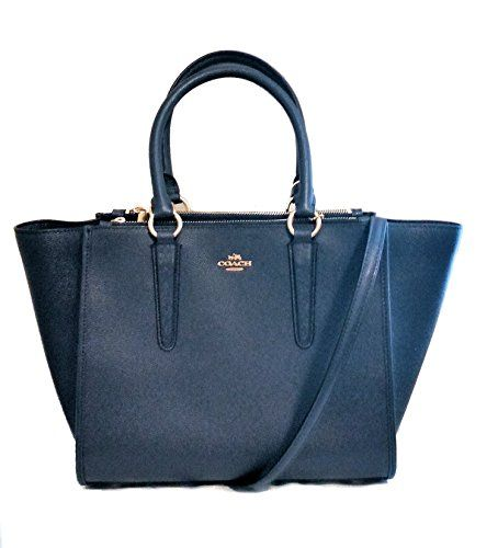 a9b3378c2a643  238 - Coach F14928 Carryall Crossgrain Leather Satchel Crossbody Bag  Midnight